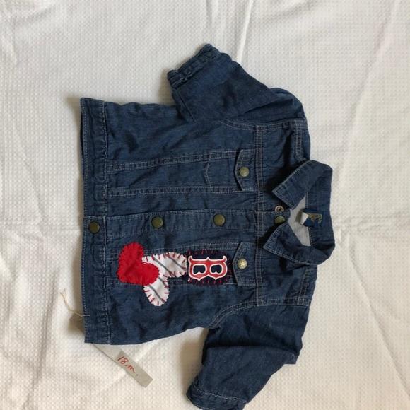 Osh Kosh Other - Vintage Trimmed grey lined denim jacket